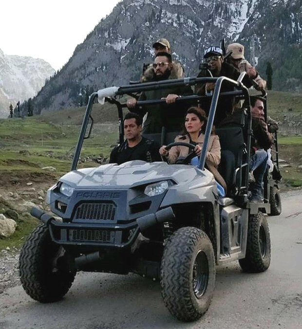 Salman Khan takes Jacqueline Fernandez for a ride in Kargil