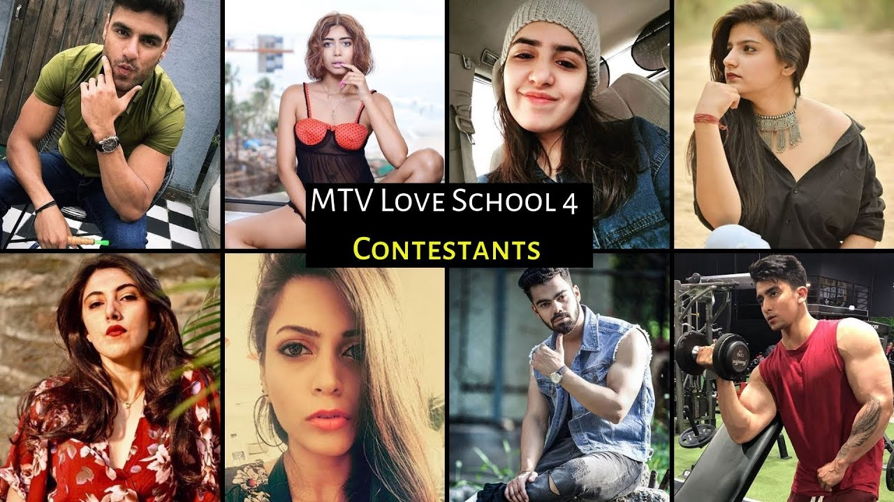 MTV Love School 4 Female Girls Contestant Names Images Pics Gallery